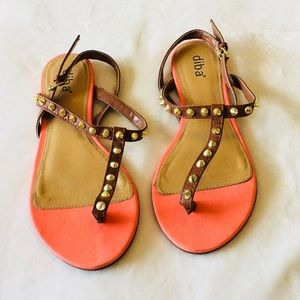 Shoes - Orange Flat Sandals